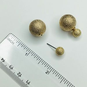 Beautiful double sided stud earrings